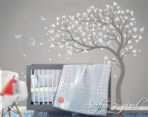tree wall decal nursery large mural stickers girl name personalized initial monogram sticker decor