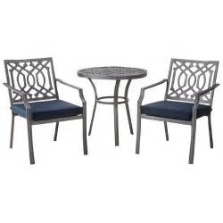 3 Piece Patio Sets threshold harper 3 piece metal patio bistro set ebay