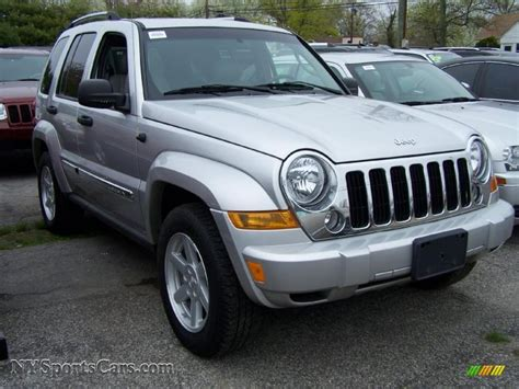 silver jeep liberty 2007 2007 jeep liberty limited 4x4 in bright silver metallic