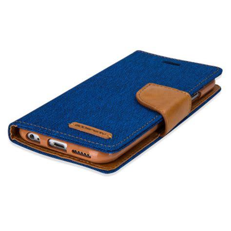 mercury canvas diary iphone 6s plus 6 plus wallet blue camel