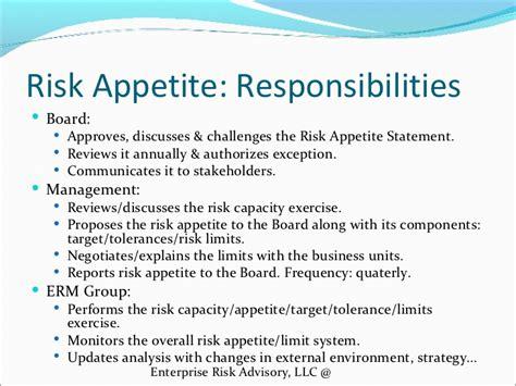 Risk Appetite Template risk appetite