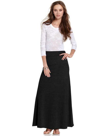 alternative apparel a line maxi skirt in black lyst