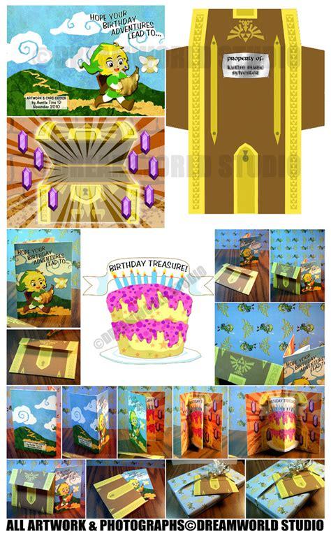 Link Birthday Card Link Birthday Card Design By Dreamworldstudio On Deviantart