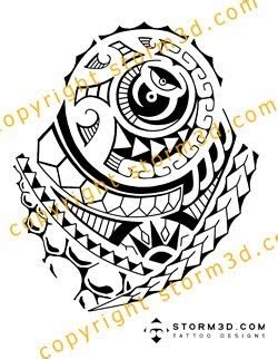 dj tattoo in polynesian style finished que la historia