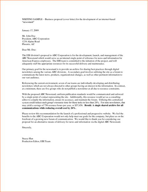 10 business proposal letter exle project proposal