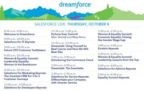 Umsl Mba Schedule by Dreamforce 16 From Anywhere With Salesforce Live