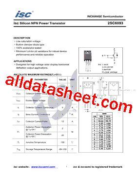 Transistor C6093 C 6093 2sc6093 数据表 pdf inchange semiconductor company limited