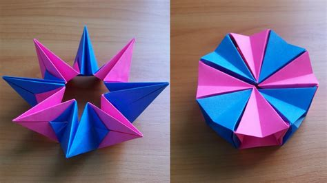 diy how to fold an easy origami magic circle fireworks