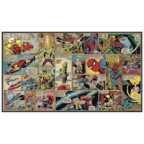 comic wall mural marvel classics comic panel wall mural roommates marvel wall murals at entertainment