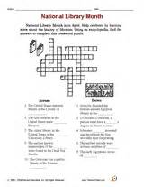 national library month worksheet printable 3rd 4th
