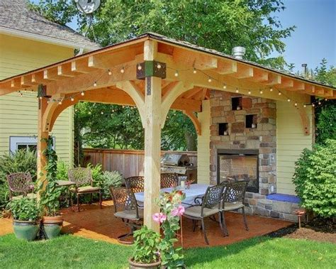 Covered Backyard Patio Ideas Covered Patio Ideas This Covered Patio Would Fit In A Small Yard Home Improvement Ideas