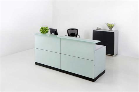 Glass Top Reception Desk Office Reception Desk And Company Charisma