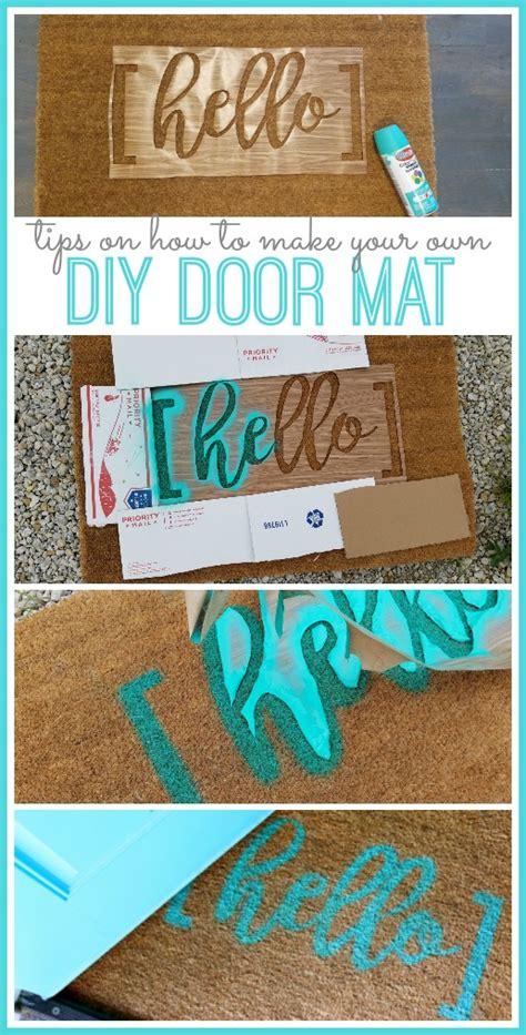 diy  door mat sugar bee crafts
