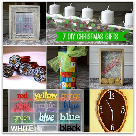 7 diy christmas gifts yesterday on tuesday
