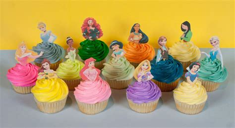 printable 12 mixed disney princess party cup cake toppers 12 stick on for disney princess cupcakes photo disney