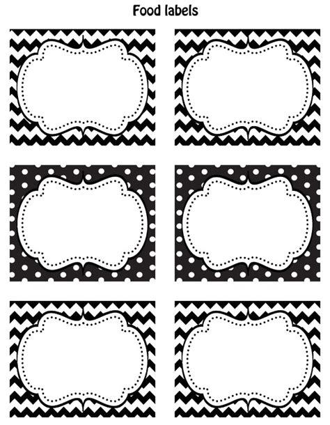 FREE Black & White Printable Labels   Celebrations at Home