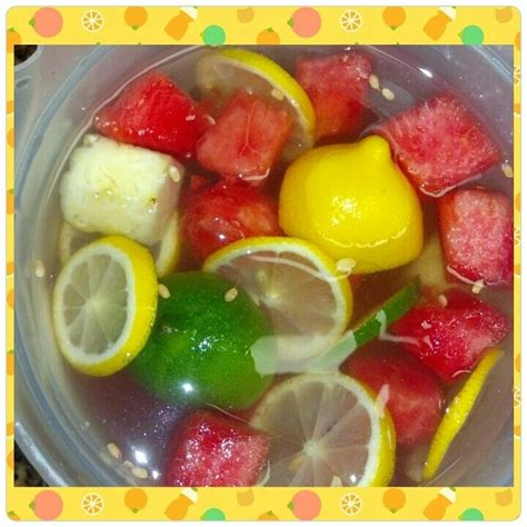 Pineapple Watermelon Detox lemon lime watermelon and pineapple infused water