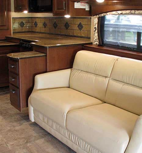 motorhome upholstery prices flexsteel leather sofa for rv rv knife sofa for sale by