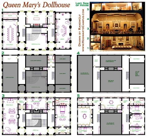 doll house floor plans queen mary s dollhouse floor plan