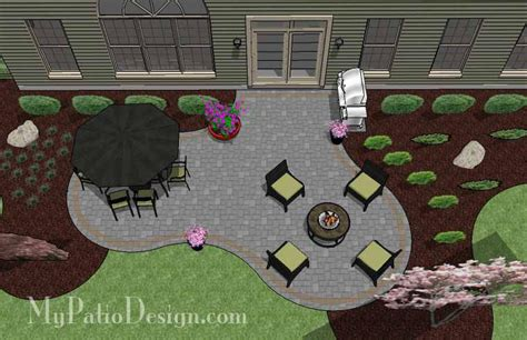 beautiful patio design patio layout and material list mypatiodesign com