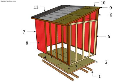 sample large lean  shed plans tall storage   small