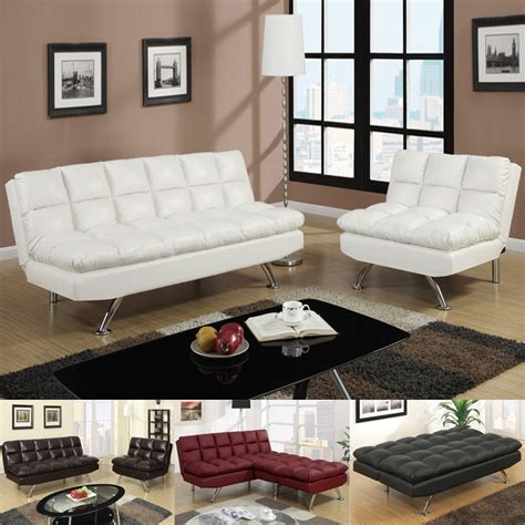 modern white leather sofa bed sleeper modern 2 pc espresso black white red faux leather sofa bed