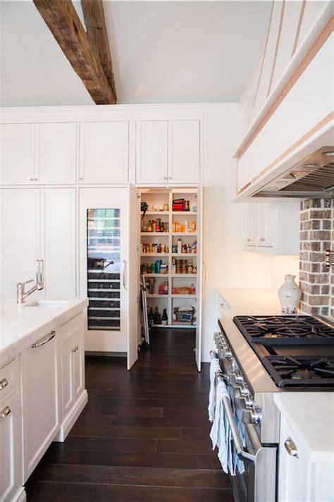 hidden walk  pantry transitional kitchen