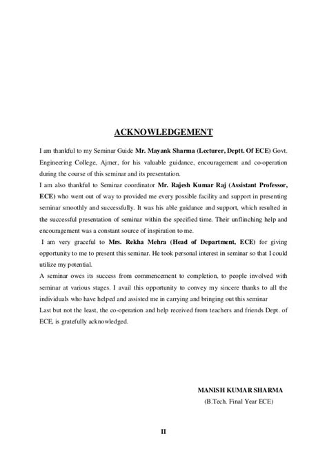 Acknowledgement Letter About Research Paper Sle Book Acknowledgement