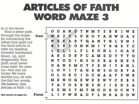 printable word search on faith third article of faith pictures to pin on pinterest