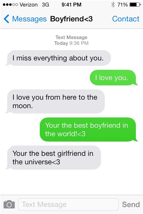 cutest freaking text message boyfriend to girlfriend