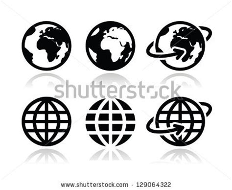 globe icons icons logos and tattoo simple globe vector clipart panda free clipart images