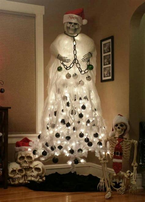 image result  skeleton christmas tree holiday ideas   pinterest halloween