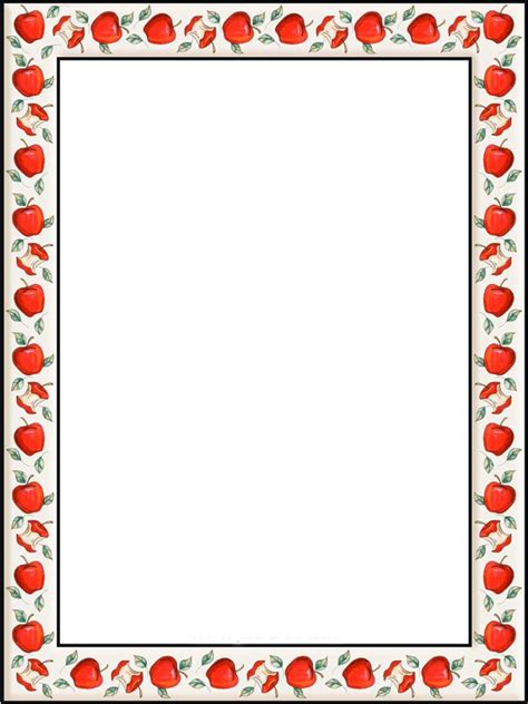 christmas templates for apple pages apple border writing paper apple border paper clip art