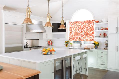 white kitchen with copper and wood accessories color scheme modern kitchen paint colors pictures ideas from hgtv