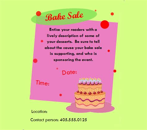 28 bake sale flyer templates psd vector eps jpg