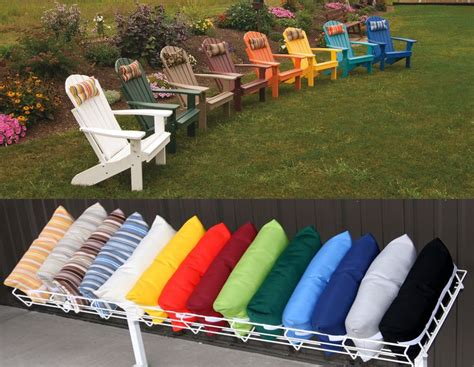 Patio Cushions With Velcro Ties Adirondack Chair Pillows 16x8 Quot Outdoor Stain