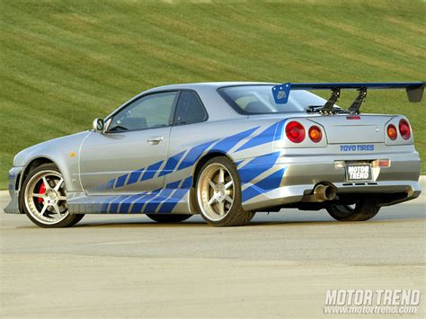 nissan skyline r34 2 fast 2 furious top 20 cars of quot the fast and the furious quot series motor trend