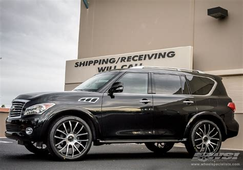 infiniti qx56 rims 2012 infiniti qx56 with 24 quot giovanna siena in machined