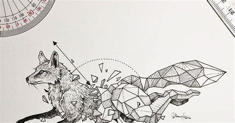 geometric beasts illustrations by kerby rosanes