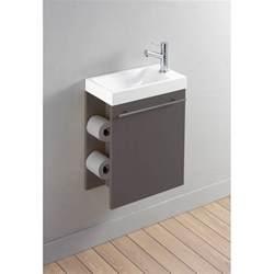 Bien Lave Main Avec Meuble Ikea #1: Pack-complet-meuble-lave-mains-avec-distributeur-de-papier-toilette-taupe-mat.jpg