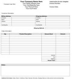 Construction Invoice Template Pics Photos Contractor Invoice Template Templates