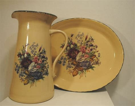 home and garden floral stoneware pottery large