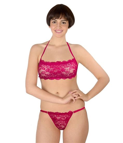 Set Thalita Salur 5 In 1 buy selfcare pink bra sets at best prices in india snapdeal