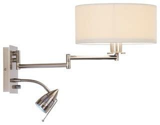 swing arm reading ls possini euro plug in led reading swing arm wall light
