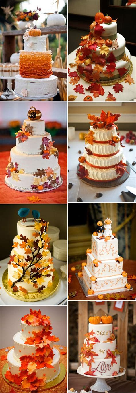 Fall Wedding Cakes by 32 Orange Yellow Fall Wedding Cakes With Maple Leaves
