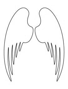 angel wings pattern use the printable outline for crafts