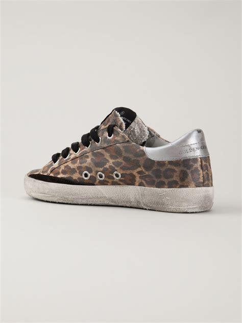leopard print sneakers for lyst golden goose deluxe brand leopard print sneakers in