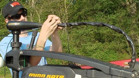 boat motor finder mounting a fish finder on a trolling motor youtube