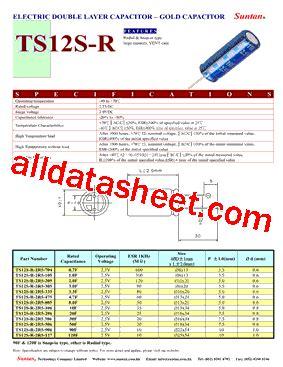 capacitor package datasheet ts12s r datasheet pdf suntan capacitors