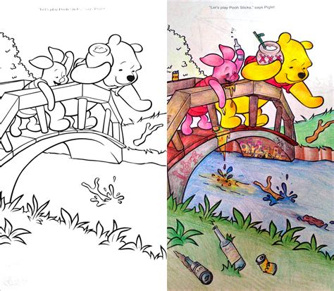 corrupted coloring books pooh coloring book corruptions